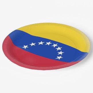 Prato De Papel Bandeira do venezuelano de Venezuela