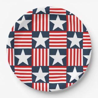 Prato De Papel Bandeira dos Estados Unidos bonito