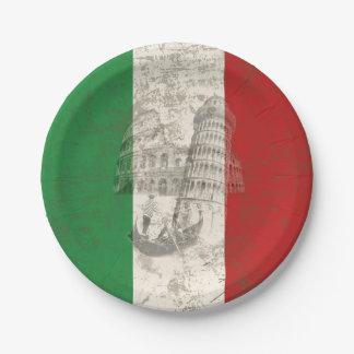 Prato De Papel Bandeira e símbolos de Italia ID157