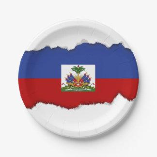 Prato De Papel Bandeira haitiana clássica