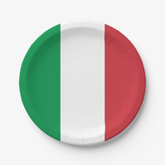 Prato De Papel Bandeira italiana patriótica