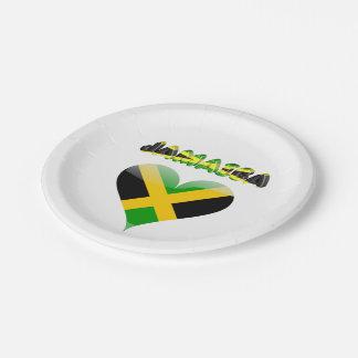 Prato De Papel Bandeira jamaicana