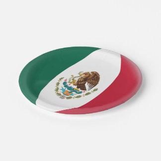 Prato De Papel Bandeira mexicana de México