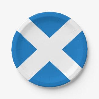 Prato De Papel Bandeira nacional da cruz de Scotland St Andrew