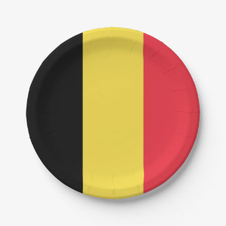 Prato De Papel Bandeira nacional de Bélgica