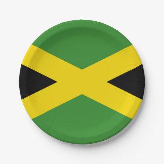 Prato De Papel Bandeira nacional de Jamaica