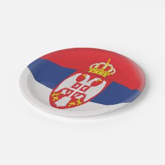 Prato De Papel Bandeira sérvio de Serbia