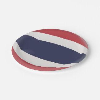 Prato De Papel Bandeira tailandesa de Tailândia