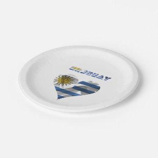 Prato De Papel Bandeira uruguaia