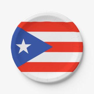 Prato De Papel Bandera porto-riquenha 4Teresa da festa de Boricua