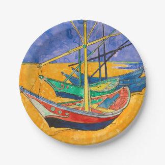 Prato De Papel Barcos de Vincent van Gogh impressionista