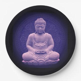 Prato De Papel Base Bênção Buda medicina Alimentação
