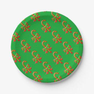 Prato De Papel Bastão do Natal