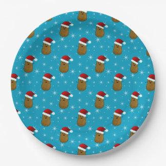 Prato De Papel Batata do Natal feliz