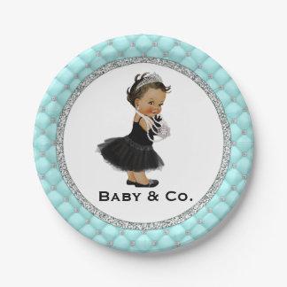 Prato De Papel Bebê e placas de papel do chá de fraldas de