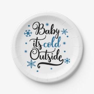 Prato De Papel bebê sua parte externa fria