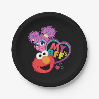 Prato De Papel BFF Abby e Elmo