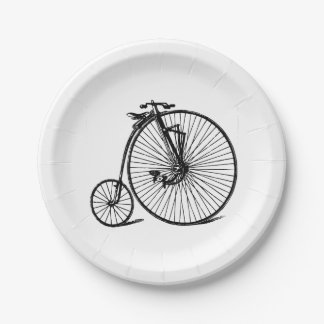 Prato De Papel Bicicleta da bicicleta do Velocipede do vintage