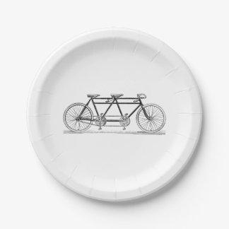 Prato De Papel Bicicleta do vintage construída para