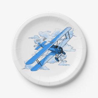 Prato De Papel Biplano do vôo do vintage