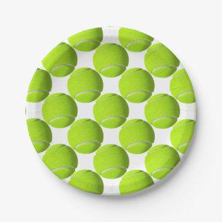 Prato De Papel Bola de tênis