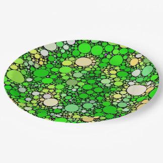 Prato De Papel Bolhas de Zazzy, verdes