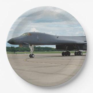 Prato De Papel Bombardeiro do lanceiro de B-1B na terra