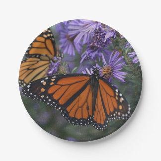 Prato De Papel Borboleta de monarca