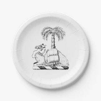 Prato De Papel Brasão heráldica formal da palmeira do camelo
