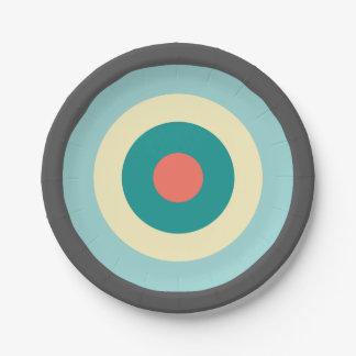 Prato De Papel Bullseye cinzento da combinação