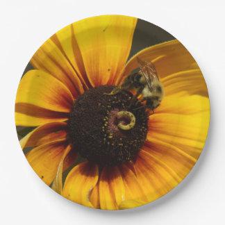 Prato De Papel Bumble a abelha, placas de papel