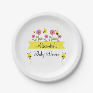 Prato De Papel Bumble placas do chá de fraldas da abelha