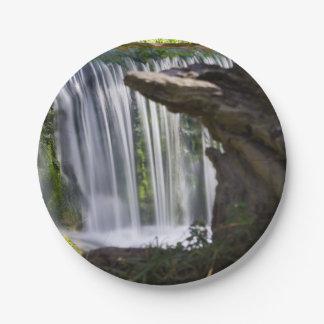 Prato De Papel Cachoeira focalizada