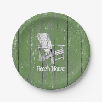 Prato De Papel Cadeira branca de Adirondack sua cor do fundo do