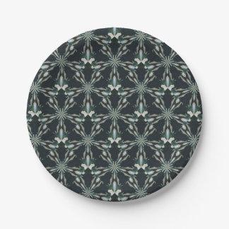 Prato De Papel Caleidoscópio da estrela do lírio de Calla