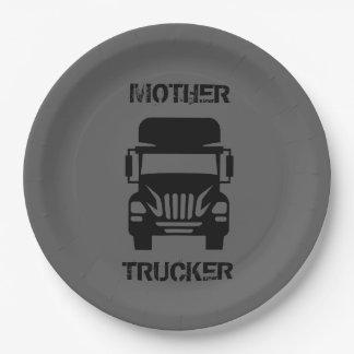 Prato De Papel Camionista engraçado e legal da mãe pelo Storeman
