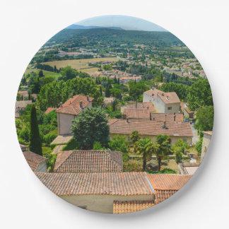 Prato De Papel Campo francês na fotografia de Provence