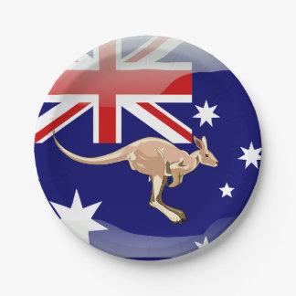 Prato De Papel Canguru australiano