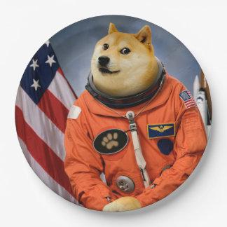 Prato De Papel cão do astronauta - doge - shibe - memes do doge