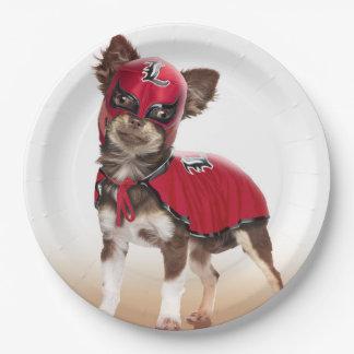 Prato De Papel Cão do libre de Lucha, chihuahua engraçada,