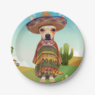 Prato De Papel Cão mexicano, chihuahua