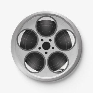 Prato De Papel Carretel de filme do filme do teatro de casa