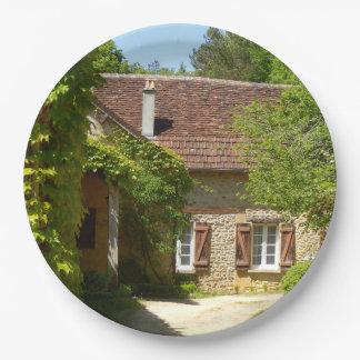 Prato De Papel Casa da quinta francesa e placa de papel de Gite