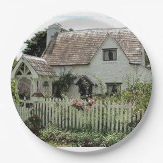 Prato De Papel Casa de campo inglesa