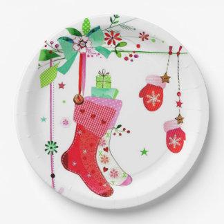 Prato De Papel Casa para as placas de papel do Natal dos feriados