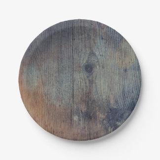 Prato De Papel Casamento de madeira rústico velho do celeiro