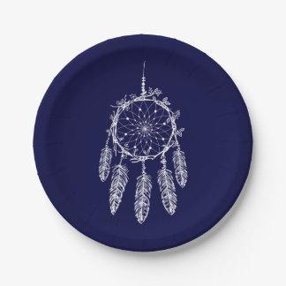 Prato De Papel Casamento do coletor do sonho de nativo americano
