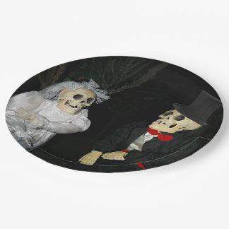 Prato De Papel Casamento do morto