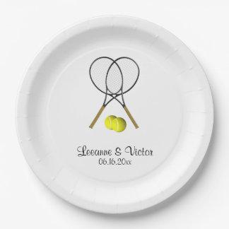 Prato De Papel Casamento do tênis personalizado