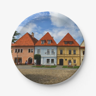 Prato De Papel Casas de cidade velhas em Bardejov, Slovakia